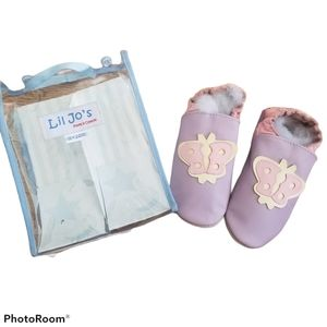 Lil Jo's Purple and Pink Butterfly Moccasins